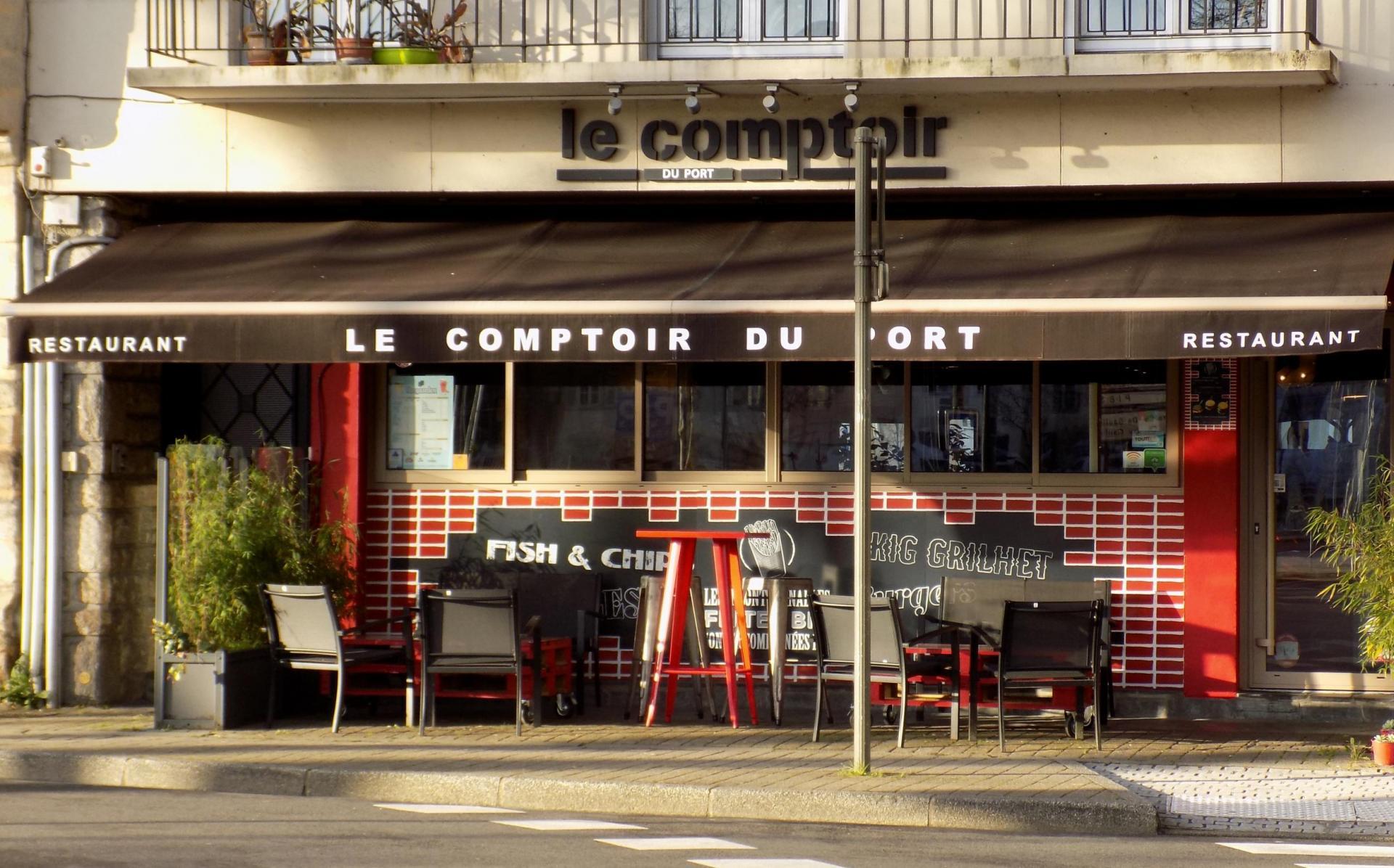 extérieur restaurant Le comptoir du port