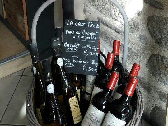 vin restaurant Chez Fred vannes