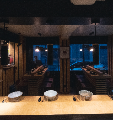Comptoir, ambiance salle, Ryoko, Ramen, Vannes