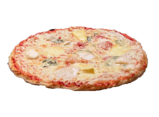 Base tomate ou crème fraîche, mozzarella et 4 ingrédients de votre choix
