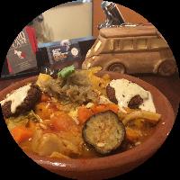 Couscous oriental plat garnie chaud