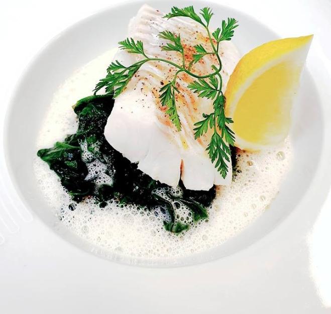 restaurant Vannes Eglefin et tombée d'épinard Labonapp