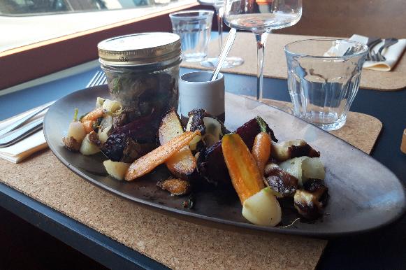 cuisine du marché bio local restaurant l'Ardoise à Vannes sur labonapp