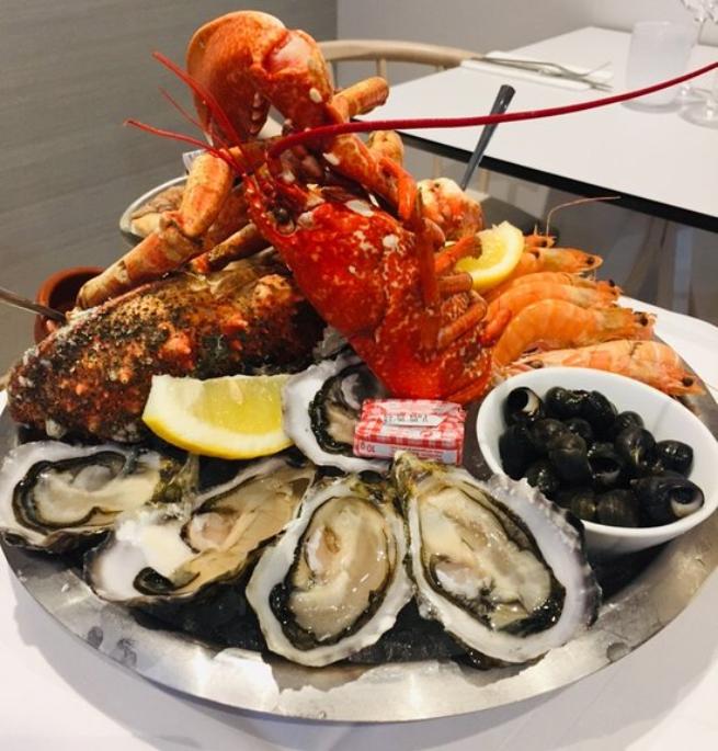 plateau de fruits de mer Brasserie Bleu Vannes Labonapp solidaire