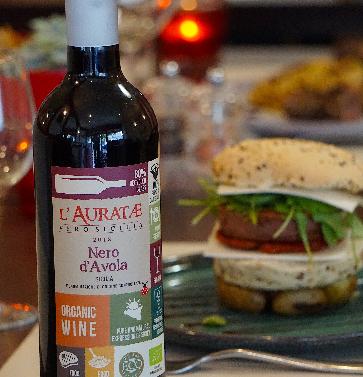 Auratae rouge, vin bio sicilien