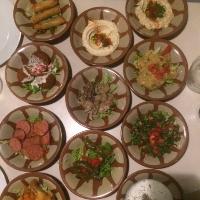 aliments repas legume plat Mezze libanais